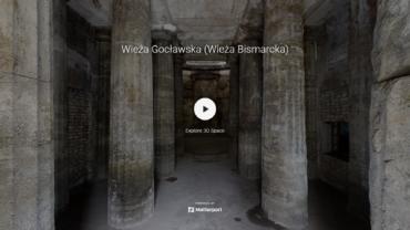 Spacer 3d wieża Bismarcka w Szczecinie